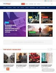 Free Magazine Html5 Css3 Website Template Psd Html5