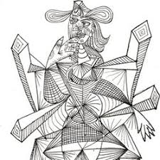 Small Picture Picasso coloring pages for adults free to print online