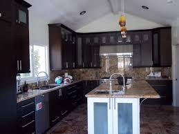 Expresso Kitchen Cabinets Espresso Kitchen Cabinets With Square Glass Doors Cabinet