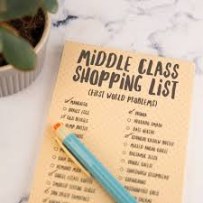 Shopping List Middle Class Magnetic Shopping List Pad By Bread Jam 7