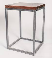 perimeter walnut  metal end table  home furniture  the