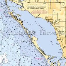 Florida Longboat Key Nautical Chart Decor