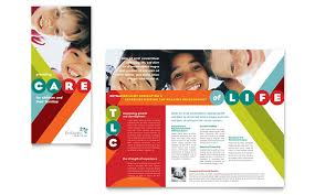 baby pamphlets pediatrician child care brochure template design