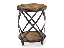 rustic round end table. Abel - Round End Table T1755-35 Rustic D