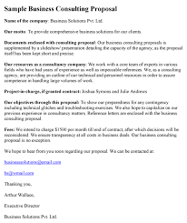Sample Proposal Letter For Consultancy Services Consulting Proposal Template Proposal Templates Business