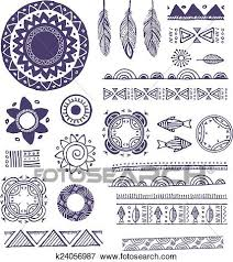 Bohemian Patterns Inspiration Clip Art Of Tribal Bohemian Mandala Background With Round Ornaments