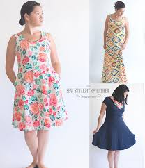 A Line Dress Pattern Adorable The Women's UptownDowntown Dress Pattern Sew Straight Patterns