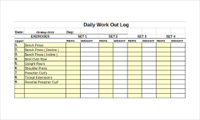 Workout Log Sheets Fascinating Workout Log Template Excel The Art Gallery Weight Lifting Template