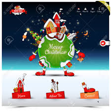 Free Christmas Website Templates Christmas Night Website Template In Snow Fall And Star Light