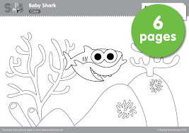 Small Picture Baby Shark Coloring Pages Super Simple