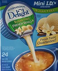For a serving size of (g). International Delight Sugar Free French Vanilla Non Dairy Creamer 24 Count Creamer Singles Pack Of 3 Amazon Com Grocery Gourmet Food