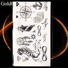 105x6cm Piccoli Gadget Nero Croce Tatuaggi Temporanei Donne Cristiane Corpo Mani Art Tattoo Adesivi Uomo Diamante Tatuaggio Finto
