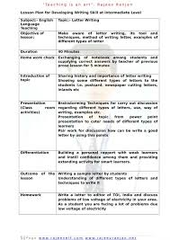 um to large size of letter writing lesson plan english age teaching plans for indian high