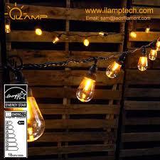 Edison Bulb Patio String Lights Led Light Bulb String Lights Outdoor Edison Bulb Rope 10 Sockets With Build In Hanging Loops Buy Led Light Bulb String Lights String Lights Outdoor