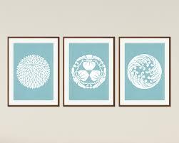 Shell Designs Japanese Designs Minimalist Printable Poster Set Asian Decor