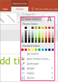You can easily insert these shapes with a click or two, but once in a while you may get stumped. Change The Color Style Or Weight Of A Line Office Support