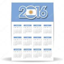 Calendario 2015 Argentina Vector Calendario 2016 Argentina Calendario 2016 Con La Bandera