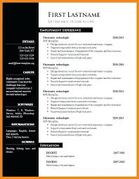 Free Resume Templates For Word 2010 Impressive Resume Microsoft Template Resume Template Word Microsoft Free Resume
