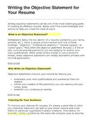 Great Resume Objectives Examples Wikirian Com