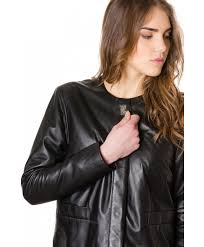 f102 black colour woman lamb leather jacket smooth effect the jacket master