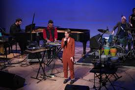 File:Caroline Shaw with Attacca Quartet and So Percussion at Miller Theater  - 49517620406.jpg - Wikimedia Commons