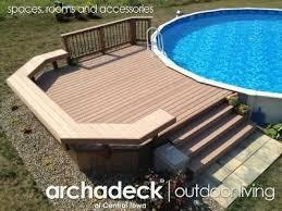 above ground pool decks. Simple Above Best 25 Pool Decks Ideas On Pinterest Outdoor Grill Area Patio Deck Around  Inside Above Ground U