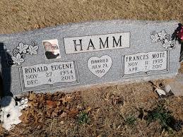 Frances Jayne Hamm (Mote) (1935 - 2017) - Genealogy