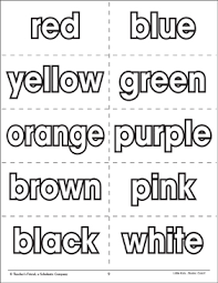 This set of printable color words puzzles is perfect for learning color words. Color Words Flash Cards Printable Flash Cards