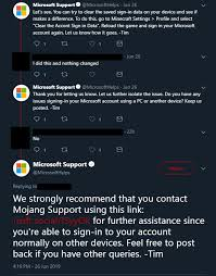 microsoft account after restarting game