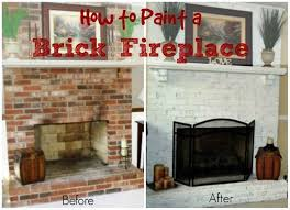 painted fireplaces before and after image of how to update a brick fireplace