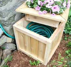 Cedar DIY Hose Hiding Outdoor Planter