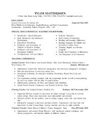 Student Teaching Resume edit. TYLER MATTHIJSSEN 12 East Gate Road, Long  Valley, NJ 07853 | (908) ...