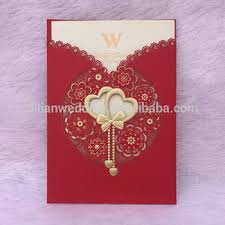 Wedding Card Design Laser Cut Double Heart Design Chinese Wedding Invitation Card Buy
