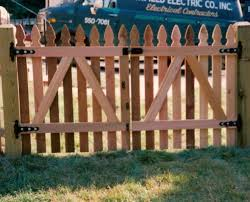 wood picket fence gate. How To Build A Picket Fence Double Gate Wood C