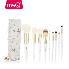 details about msq 9pcs makeup brushes sets synthetic hair powder foundation makeup brush tools