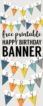 Birthday Banner Printable Free Printable Happy Birthday Banner Happy Birthday Banner