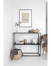 Steel modern console table