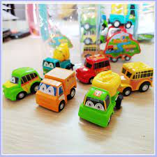 Đồ chơi ô tô cho bé trai 1 tuổi, 2 tuổi, 3 tuổi, 4 tuổi [BỘ 6 XE Ô TÔ NHÍ  CHẠY COT]