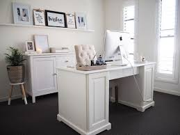 home office reveal kirsten and co s hamptons inspired home office reveal featuring liatorp desk from