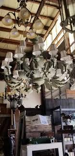 lg green leaf chandelier