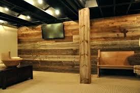U Rustic Finished Basement Ideas Modern And