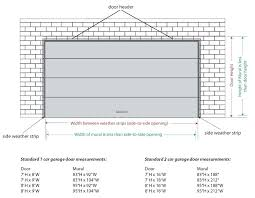 standard garage door sizes collection in industrial dimensions with full image for two car size double standard garage door