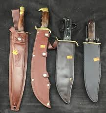 The knives imported from pakistan were everywhere in the 70's and 80's. 2 Pakistan Knives 1 Straight 1 Curved In Brown Chesapeake Marketplace
