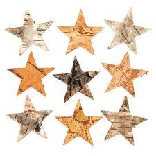 Baker Ross Baumrinden Sterne Kreatives Bastelmaterial Für Kinder Für Bastelarbeiten Und Dekorationen 30 Stück