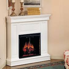 white corner fireplace electric interior corner fireplace electric