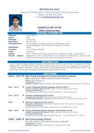 Professional Curriculum Vitae Writing Website For Phd | Cv For Phd ...
