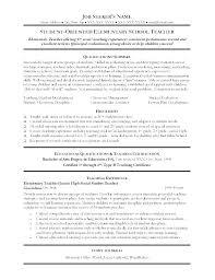 Example Resume For Teachers Sample Resume Teacher Teachers Example