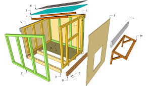 large slanted dog house