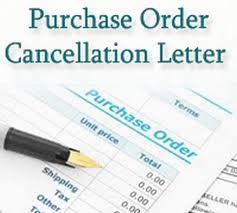 Purchase Order Cancellation Letter Free Letters