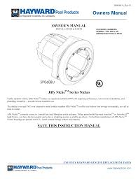 Hayward Spa Light Sp0608u Manualzz Com